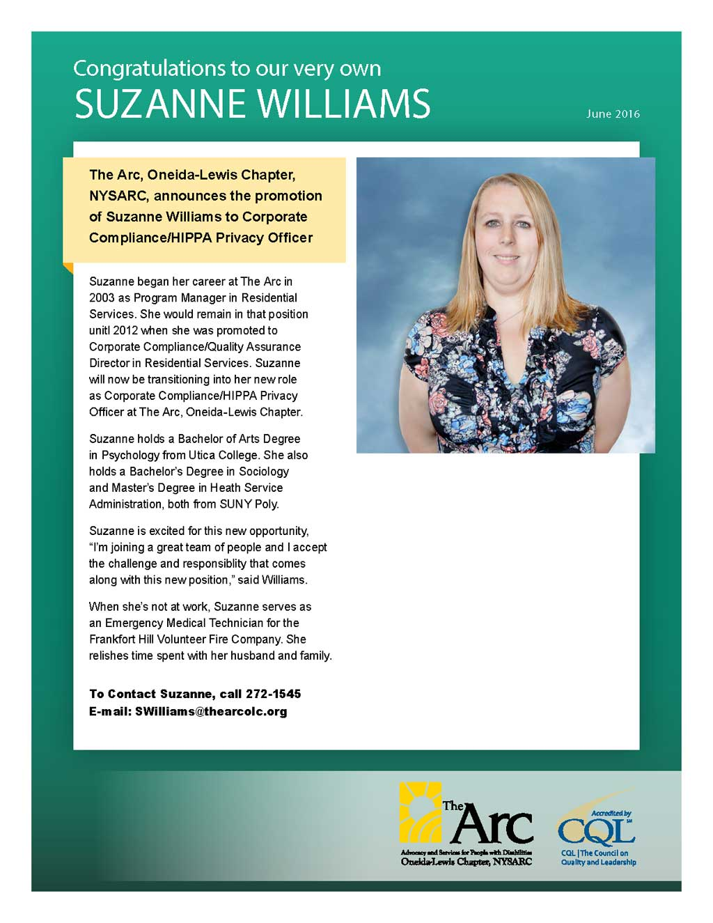 Employee-Announcement_SuzanneWilliams_Crunch